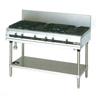 マルゼン パワークックガステーブル MGTX-126E 1200×600×800 メイチョー【 メーカー直送/後払い決済不可 】