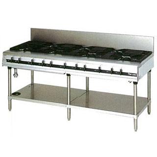 マルゼン パワークックガステーブル MGTX-187E 1800×750×800 メイチョー【 メーカー直送/後払い決済不可 】