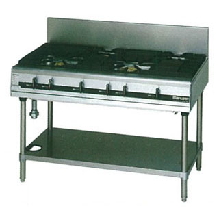マルゼン パワークックガステーブル MGTXS-126E 1200×600×800 メイチョー【 メーカー直送/後払い決済不可 】