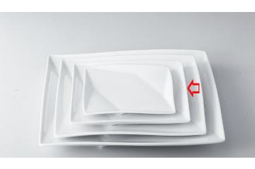 【まとめ買い10個セット品】和食器 折紙 8吋角皿 35A407-03 まごころ第35集 【キャンセル/返品不可】【開業プロ】
