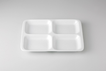 【まとめ買い10個セット品】和食器 白洋陶 13吋四ツ仕切皿 35A478-08 まごころ第35集 【キャンセル/返品不可】【開業プロ】