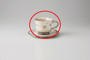 【まとめ買い10個セット品】和食器 粉引印花紋 コーヒーカップ 35Y480-04 まごころ第35集 【キャンセル/返品不可】【開業プロ】