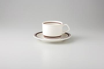 【まとめ買い10個セット品】和食器 茶Wライン 紅茶C/S 35Y485-11 まごころ第35集 【キャンセル/返品不可】【開業プロ】