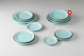 【まとめ買い10個セット品】和食器 手彫青白瓷 丸7.0皿 36K205-13 まごころ第36集 【キャンセル/返品不可】【開業プロ】