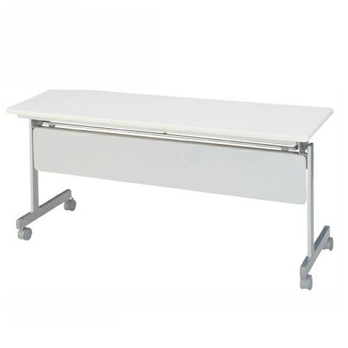 【まとめ買い10個セット品】 跳上式スタックテーブル 幕板付き KSMI560-NN ネオナチュラル 【メイチョー】