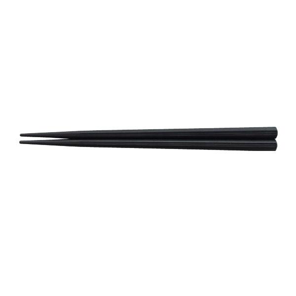【即納】【まとめ買い10個セット品】 筋目六角箸 黒OM 22.5cm (10膳入) HS-501-10 PBT樹脂 耐熱200℃ 【メイチョー】