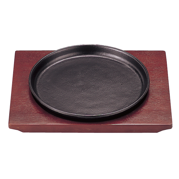 【まとめ買い10個セット品】 カトレヤ ステーキ皿 丸型 大 21cm 【メイチョー】