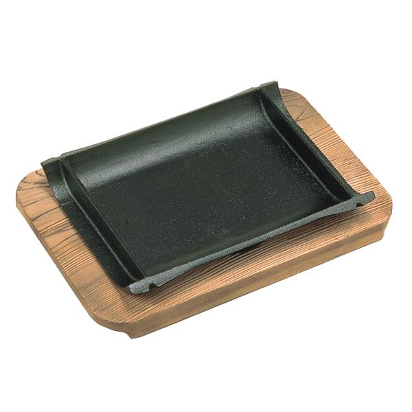 【即納】【まとめ買い10個セット品】 三和 和風ステーキ皿 竹 焼杉 21cm 【メイチョー】