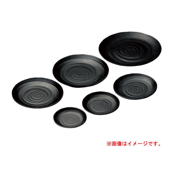 【まとめ買い10個セット品】 M11-185 丸皿 φ28 黒(メラミン) 【メイチョー】