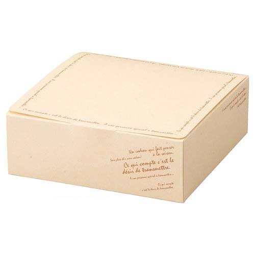 【まとめ買い10個セット品】 再生紙ギフトボックス クリームソフト 17.5×17.5×6 20枚【店舗什器 小物 ディスプレー ギフト ラッピング 包装紙 袋 消耗品 店舗備品】