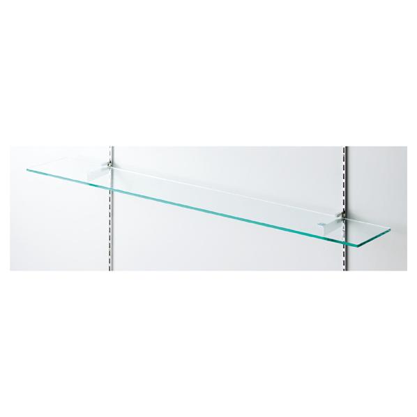 【まとめ買い10個セット品】 跳上防止機能付きガラス棚セットW90×D20cm 【メイチョー】
