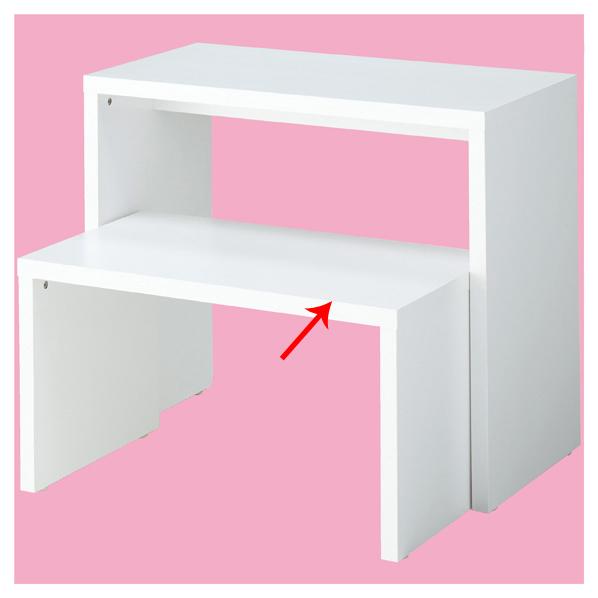 【まとめ買い10個セット品】 木製コの字型テーブル 小 ホワイト 【メイチョー】