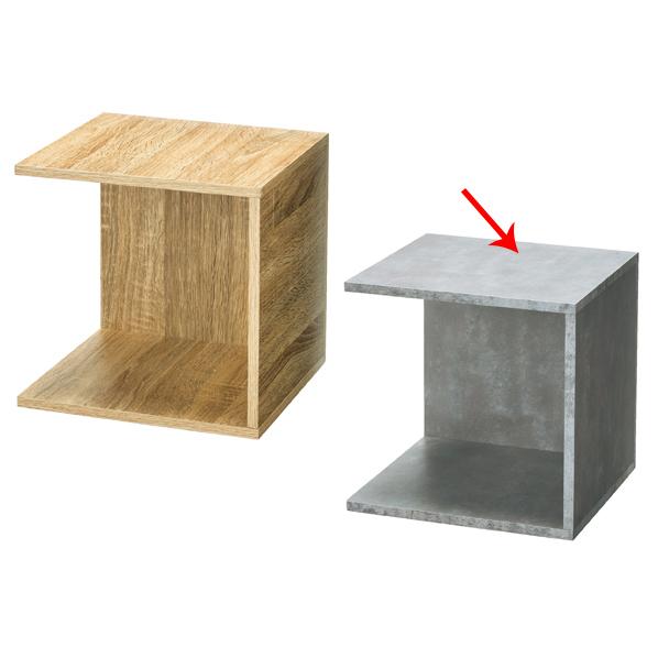 【まとめ買い10個セット品】 木製4面ボックス セメント柄 【メイチョー】