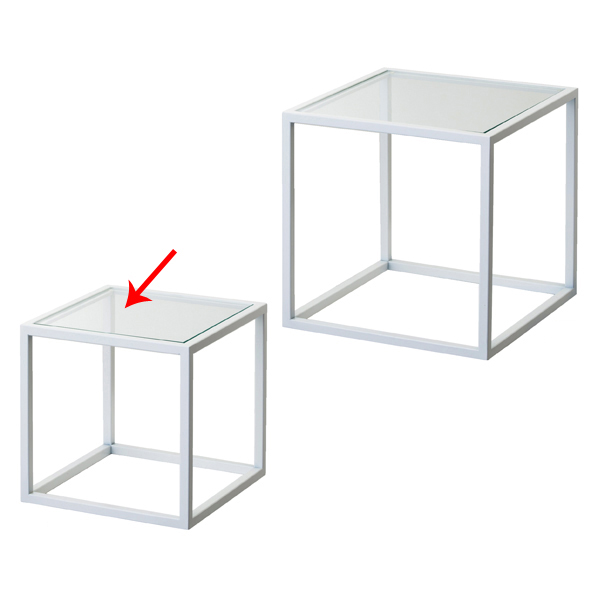 【まとめ買い10個セット品】 スチール製ボックス 小 白 【メイチョー】