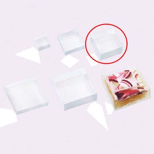 【まとめ買い10個セット品】 クリアボックス(かぶせ式) 正方形 10×10×5 10個【店舗什器 小物 ディスプレー ギフト ラッピング 包装紙 袋 消耗品 店舗備品】