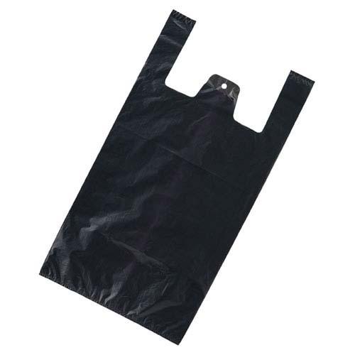 無地 レジ袋 ブラック 30×55(40)×横マチ15 2000枚【店舗什器 小物 ディスプレー ギフト ラッピング 包装紙 袋 消耗品 店舗備品】