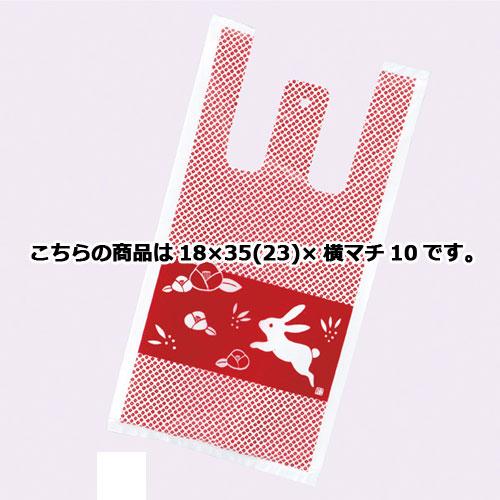 花うさぎ レジ袋 18×35cm 6000枚【 ラッピング用品 包装 ラッピング袋 花うさぎ 消耗品 かわいい 業務用 】