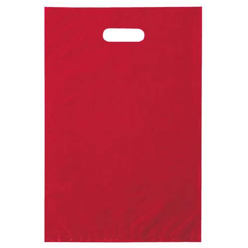 【まとめ買い10個セット品】 ポリ袋ハード型 レッド 50×60cm 50枚 レジ袋【ラッピング用品 包装 ラッピング袋 ポリ袋 レジ袋 カラー 消耗品 業務用】