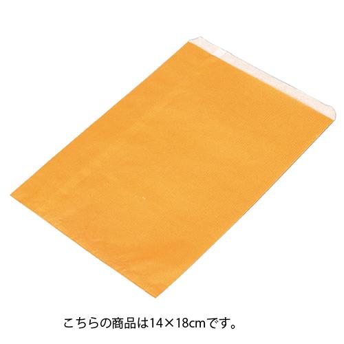 【まとめ買い10個セット品】 筋入りカラー無地 オレンジ 14×18 6000枚【店舗什器 小物 ディスプレー ギフト ラッピング 包装紙 袋 消耗品 店舗備品】