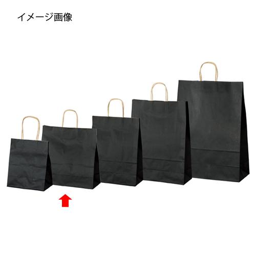 【まとめ買い10個セット品】 カラー手提げ紙袋 黒 32×11.5×31 200枚【店舗什器 小物 ディスプレー ギフト ラッピング 包装紙 袋 消耗品 店舗備品】