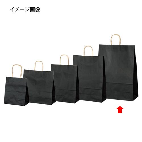 【まとめ買い10個セット品】 カラー手提げ紙袋 黒 38×15×50 200枚【店舗什器 小物 ディスプレー ギフト ラッピング 包装紙 袋 消耗品 店舗備品】