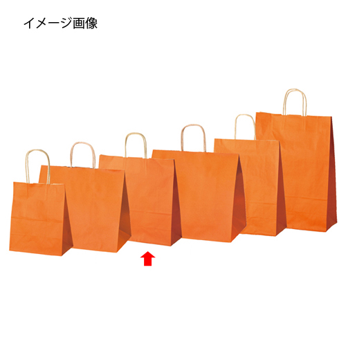 【まとめ買い10個セット品】 手提げ紙袋 オレンジ 32×11×31cm 200枚【 ラッピング用品 包装 ラッピング袋 紙袋 ペーパーバッグ 無地 手提げ袋 手提げ紙袋 消耗品 業務用 】