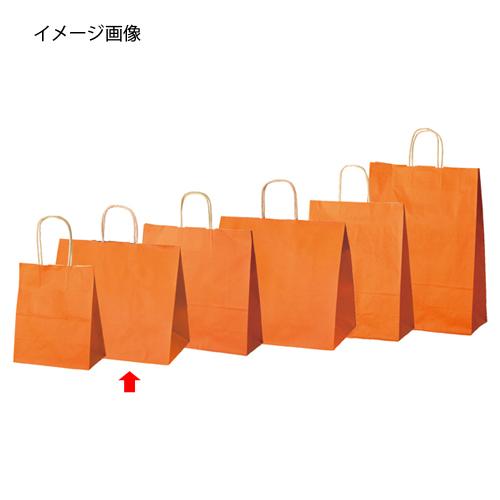 【まとめ買い10個セット品】 カラー手提げ紙袋 オレンジ 32×20×29 50枚【店舗什器 小物 ディスプレー ギフト ラッピング 包装紙 袋 消耗品 店舗備品】