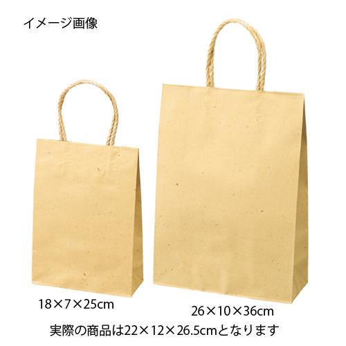 【まとめ買い10個セット品】 スムースバッグ ナチュラル 22×12×26.5 300枚【店舗什器 小物 ディスプレー ギフト ラッピング 包装紙 袋 消耗品 店舗備品】