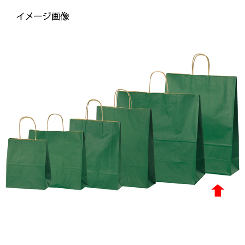 【まとめ買い10個セット品】 カラー手提げ紙袋 グリーン 38×15×50 200枚【店舗什器 小物 ディスプレー ギフト ラッピング 包装紙 袋 消耗品 店舗備品】