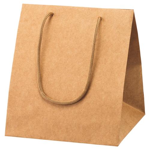 【まとめ買い10個セット品】 アレンジバッグ 茶 23×23×27 50枚【店舗什器 小物 ディスプレー ギフト ラッピング 包装紙 袋 消耗品 店舗備品】
