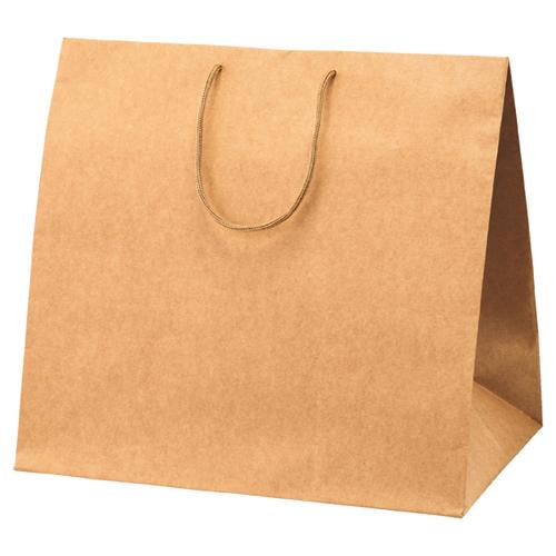 【まとめ買い10個セット品】 アレンジバッグ 茶 44×29.5×42 50枚【店舗什器 小物 ディスプレー ギフト ラッピング 包装紙 袋 消耗品 店舗備品】