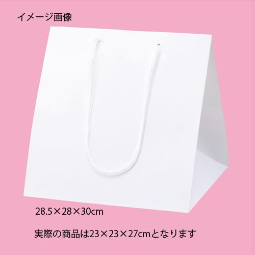 【まとめ買い10個セット品】 アレンジバッグ 白 23×23×27 10枚【店舗什器 小物 ディスプレー ギフト ラッピング 包装紙 袋 消耗品 店舗備品】