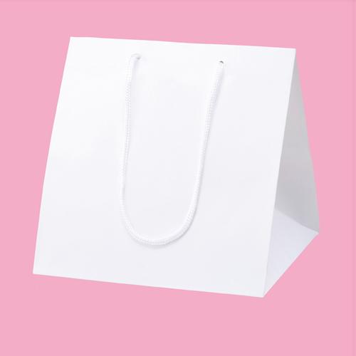 【まとめ買い10個セット品】 アレンジバッグ 白 28.5×28×30 50枚【店舗什器 小物 ディスプレー ギフト ラッピング 包装紙 袋 消耗品 店舗備品】