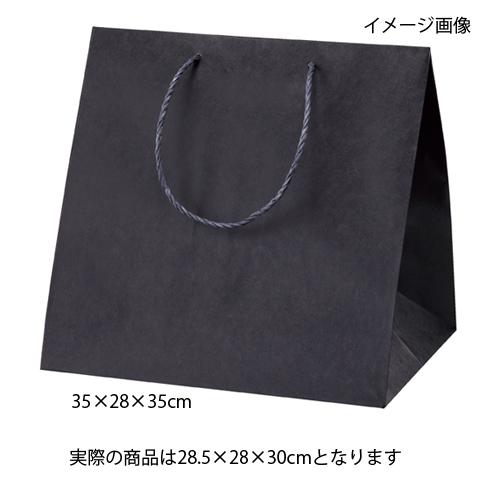【まとめ買い10個セット品】 アレンジバッグ 黒 28.5×28×30 50枚【店舗什器 小物 ディスプレー ギフト ラッピング 包装紙 袋 消耗品 店舗備品】