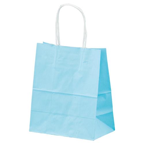 【まとめ買い10個セット品】 筋入りカラー 無地 ブルー 21×12×25 300枚【店舗什器 小物 ディスプレー ギフト ラッピング 包装紙 袋 消耗品 店舗備品】