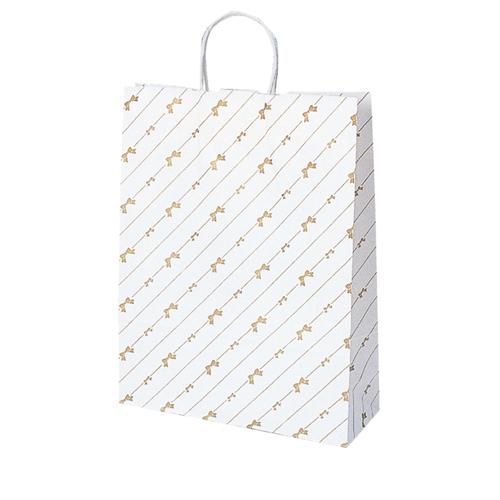 【まとめ買い10個セット品】 斜線リボン 32×11.5×41 200枚【店舗什器 小物 ディスプレー ギフト ラッピング 包装紙 袋 消耗品 店舗備品】
