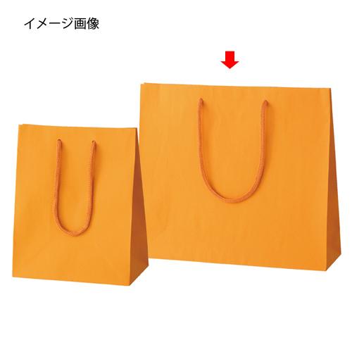【まとめ買い10個セット品】 カラー手提げ紙袋 オレンジ 33×10×29 100枚【店舗什器 小物 ディスプレー ギフト ラッピング 包装紙 袋 消耗品 店舗備品】