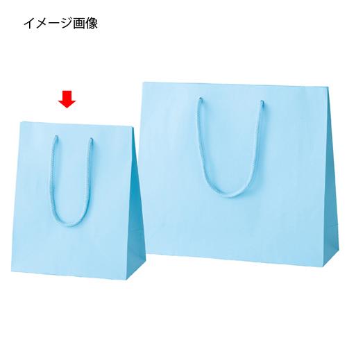 【まとめ買い10個セット品】 カラー手提げ紙袋 ブルー 20×12×25 100枚【店舗什器 小物 ディスプレー ギフト ラッピング 包装紙 袋 消耗品 店舗備品】