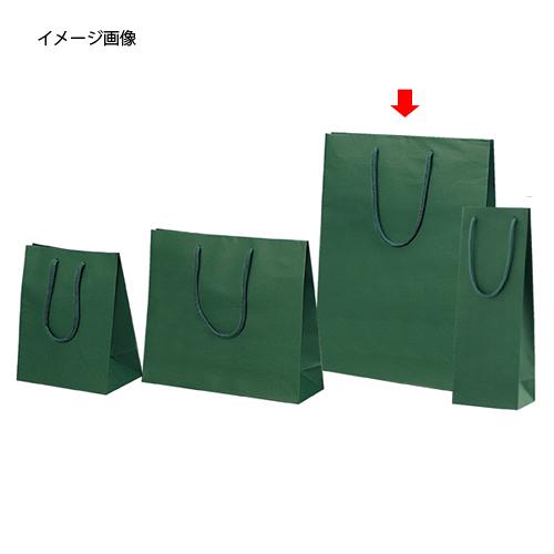 【まとめ買い10個セット品】 カラー手提げ紙袋 グリーン 33×10×45 100枚【店舗什器 小物 ディスプレー ギフト ラッピング 包装紙 袋 消耗品 店舗備品】