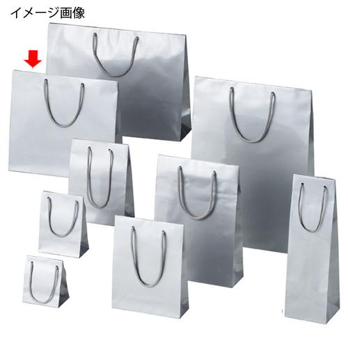 【まとめ買い10個セット品】 ブライトバッグ シルバー 33×10×30 150枚【店舗什器 小物 ディスプレー ギフト ラッピング 包装紙 袋 消耗品 店舗備品】