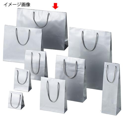 【まとめ買い10個セット品】 ブライトバッグ シルバー 45×12×33 150枚【店舗什器 小物 ディスプレー ギフト ラッピング 包装紙 袋 消耗品 店舗備品】