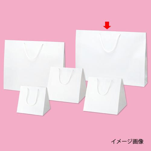 【まとめ買い10個セット品】 ブライトバッグ ホワイト 60×10×42 50枚【店舗什器 小物 ディスプレー ギフト ラッピング 包装紙 袋 消耗品 店舗備品】