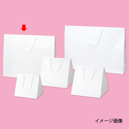 【まとめ買い10個セット品】 ブライトバッグ ホワイト 52×10×42 50枚【店舗什器 小物 ディスプレー ギフト ラッピング 包装紙 袋 消耗品 店舗備品】