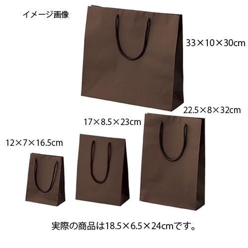 【まとめ買い10個セット品】 手提げ紙袋 ブラウン 18.5×6.5×24cm 50枚【 ラッピング用品 包装 ラッピング袋 紙袋 ペーパーバッグ 中身が見えにくい 無地 手提げ袋 手提げ紙袋 消耗品 業務用 】