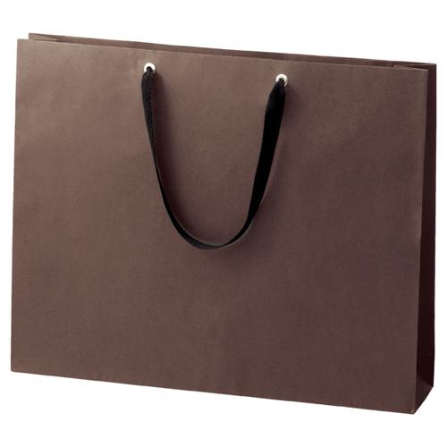 手提げ紙袋 ショルダーバッグ 52×42cm ブラウン 50枚【 ラッピング用品 包装 ラッピング袋 紙袋 ペーパーバッグ 手提げ袋 手提げ紙袋 消耗品 業務用 】