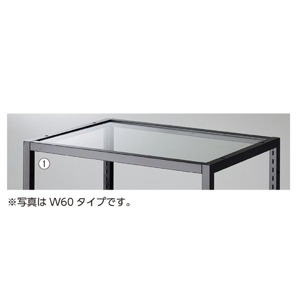 【まとめ買い10個セット品】 ブロックフレームW40cm用透明ガラス板5mm厚 W361×D418×t5mm 【メイチョー】
