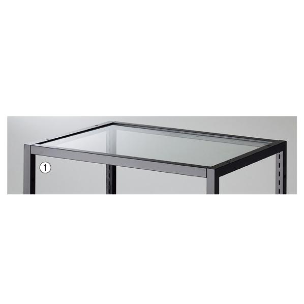 【まとめ買い10個セット品】 ブロックフレームW60cm用透明ガラス板5mm厚 W561×D418×t5mm 【メイチョー】