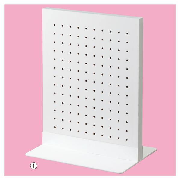【まとめ買い10個セット品】 両面有孔パネルS 40×30cm WT+ベースホワイト 【メイチョー】