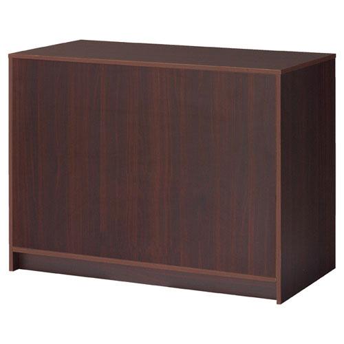 【まとめ買い10個セット品】 木製カウンター 収納付き W120cm ダークブラウン 【メーカー直送/代金引換決済不可】