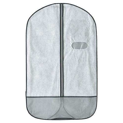 【まとめ買い10個セット品】 テーラーバッグ US型 シルバー・白 10枚【店舗什器 小物 ディスプレー ハンガー店舗備品】